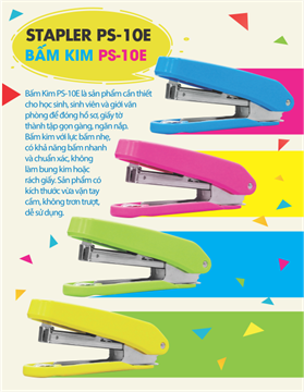BẤM KIM PS-10E HAPPY COLOR