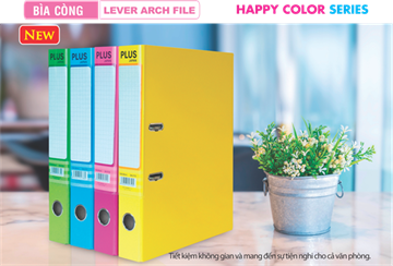 BÌA CÒNG PLUS 5,7 CM - LEVER ARCH FILE HAPPY COLOR SERIES
